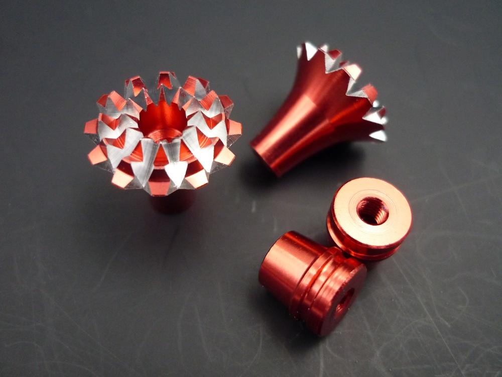 Knüppelgriffe 3D Grande Lotus Style M4, rot