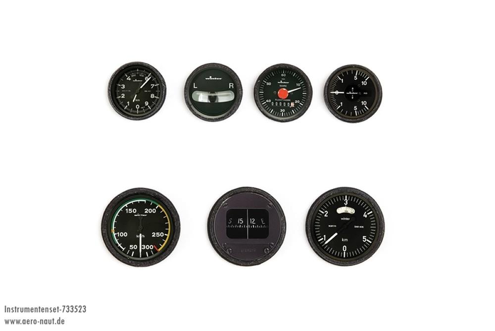 Cockpit-Instrumente modern 1:4