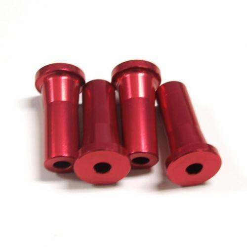 Alu-Abstandshalter 35mm rot für 5mm Schraube
