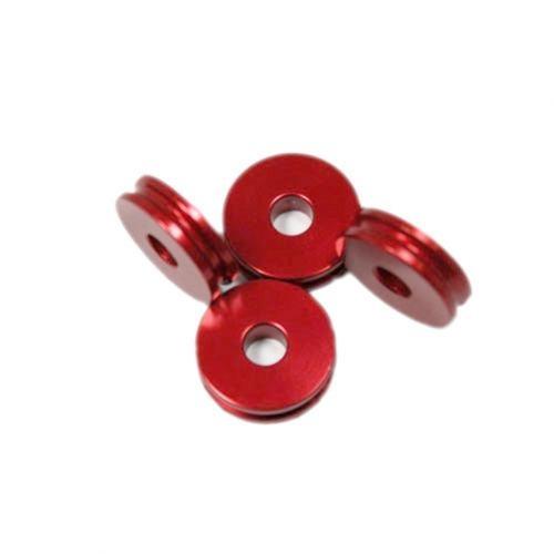 Alu-Abstandshalter 5mm rot für 5mm Schraube