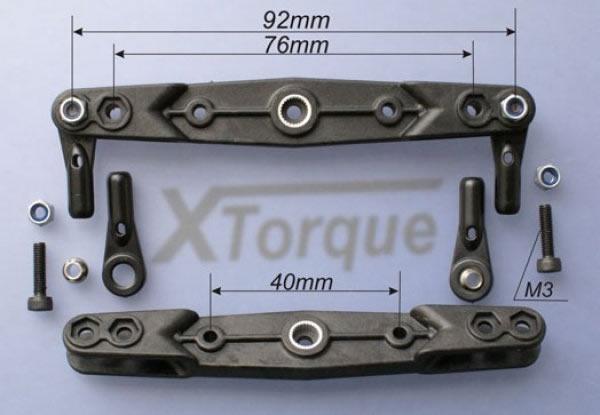 XT Torque Doppelgabelservohebel 76/92 mm 2KG