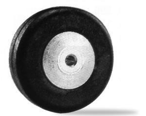 Alu-Fahrwerkräder 25 mm Dia./