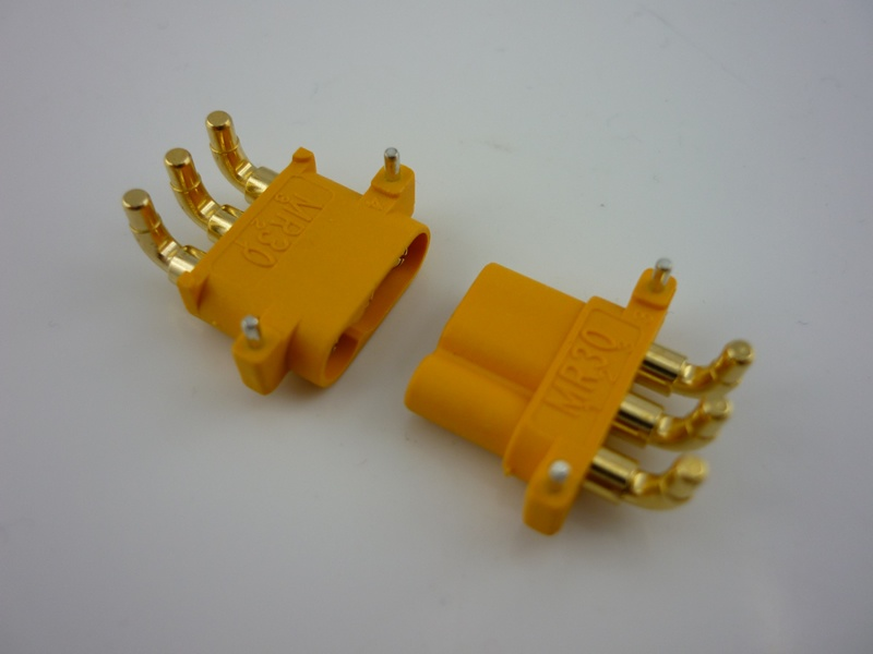Amass MR30PW Connector Plug with Right Angle of 90 Degrees