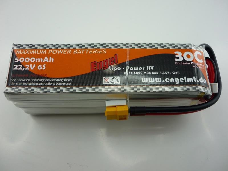 Engel-HV-Lipo-Power 5000mAh/6S 22,2V, 30/60C