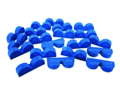 Cable holder blue, self-adhesive
