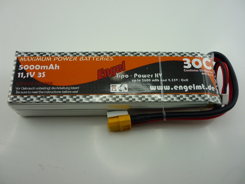 Engel-HV-Lipo-Power 5000mAh/3S 11,1V, 30/60C