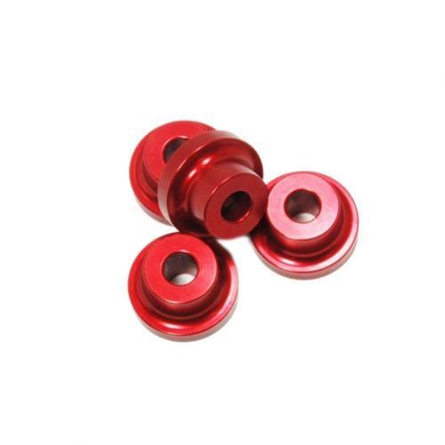Alu-Abstandshalter 10mm rot für 5mm Schraube