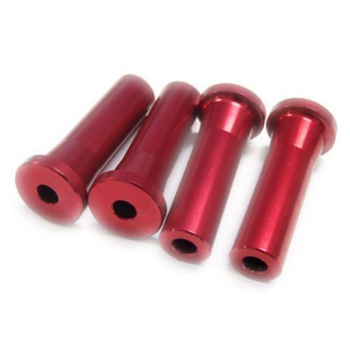 Alu-Abstandshalter 45mm rot für 5mm Schraube