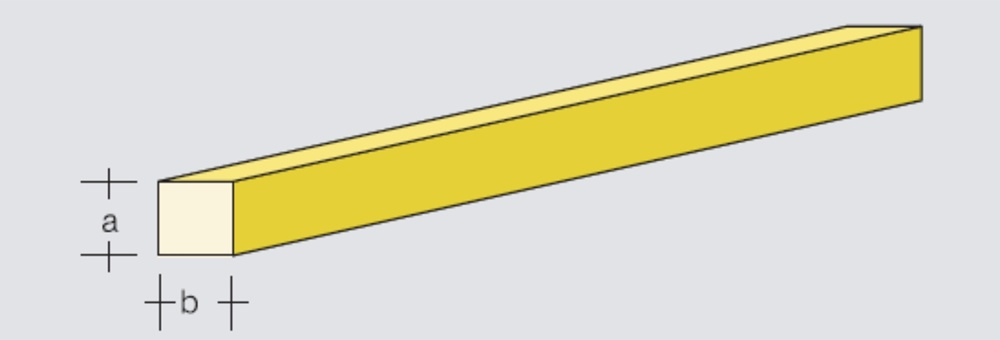 Square brass rod 4x4