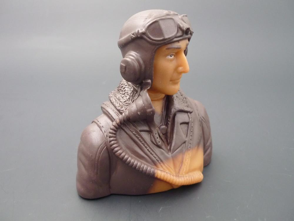 Pilotenbüste WWII 1/6 britisch, grundiert