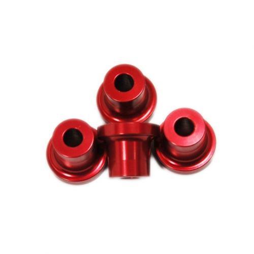 Alu-Abstandshalter 15mm rot für 5mm Schraube