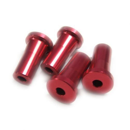 Alu-Abstandshalter 25mm rot für 5mm Schraube