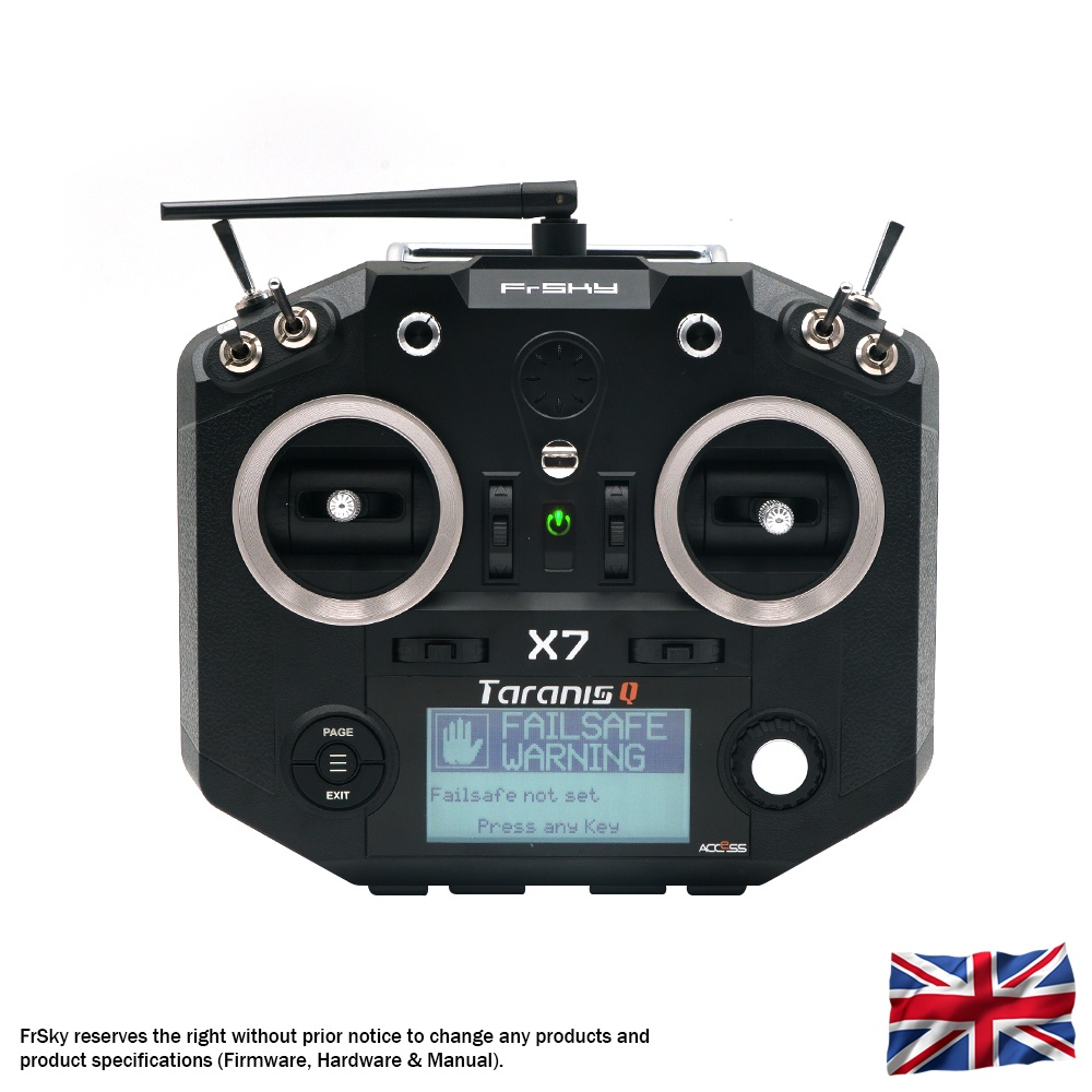 Taranis Q X7 transmitter with neck-strap, black