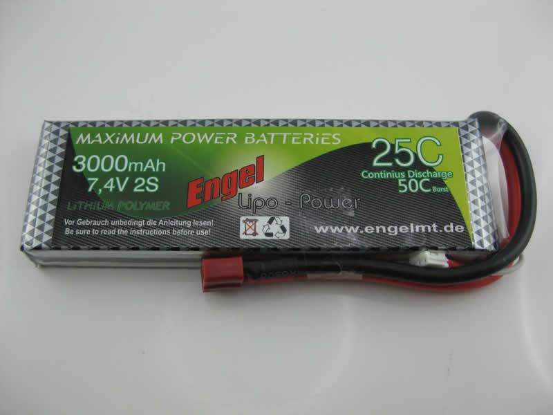 Engel-Lipo-Power 3000 7,4V, 25/50C