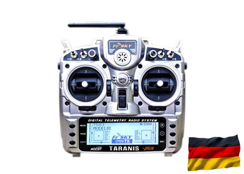 TARANIS X9D-plus EU/LBT FrSky Senderset, dt. Menüf./Sprache