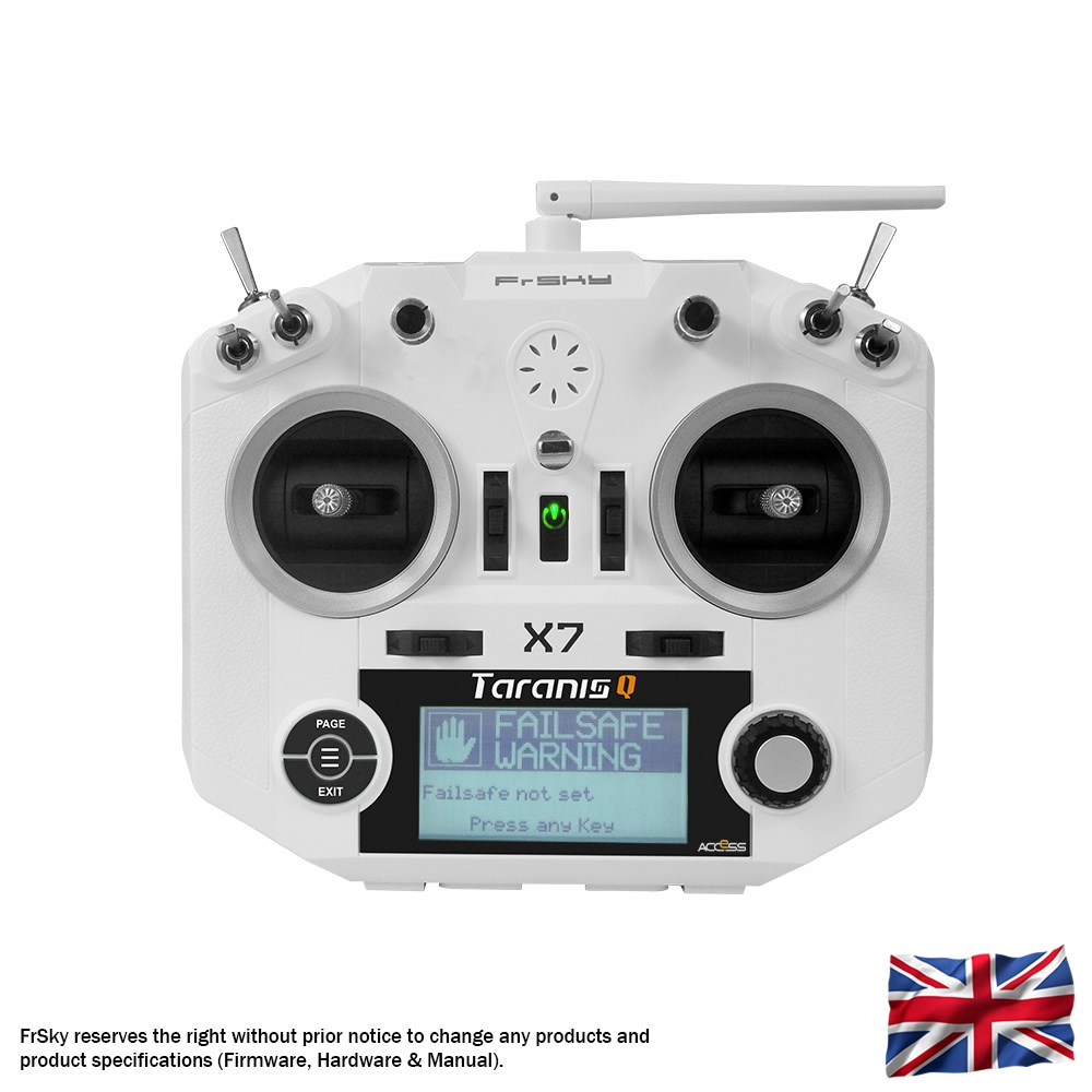 Taranis Q X7 transmitter with neck-strap, white