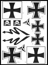 Deutschland I. Weltkrieg Dekorbogen 1:8