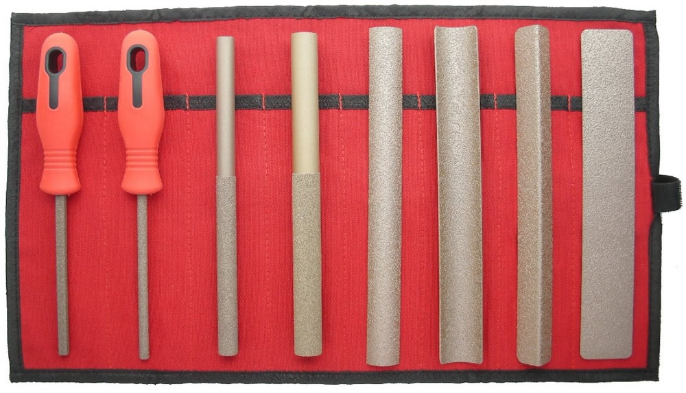 Perm-Grit Set of 8 Files Coarse in Tool Roll