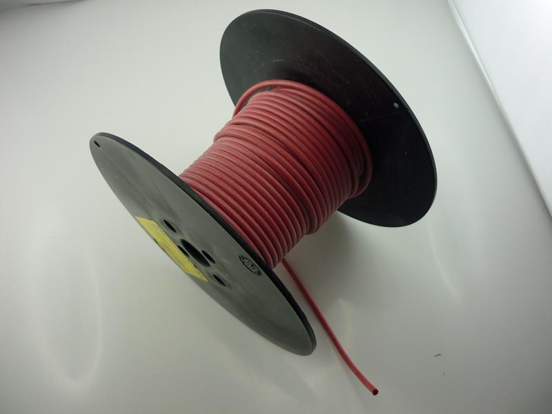 Kabel SILIKON 0,5 qmm, rot, extrem geschmeidig