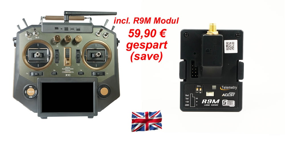 Horus X10 EU/LBT Amber Kombo incl. HF-Modul R9M
