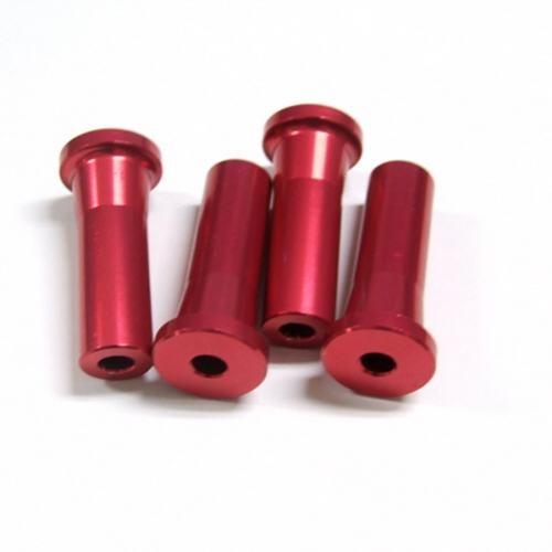 Alu-Abstandshalter 40mm rot für 5mm Schraube