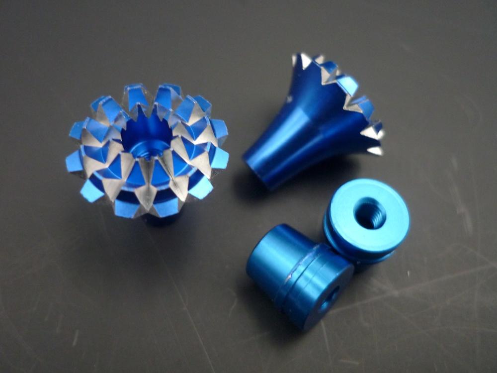 Knüppelgriffe 3D Grande Lotus Style M4, blau