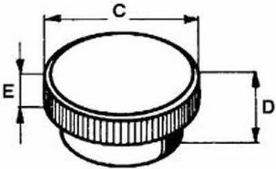 knurled button Inbus M5/17/6,5