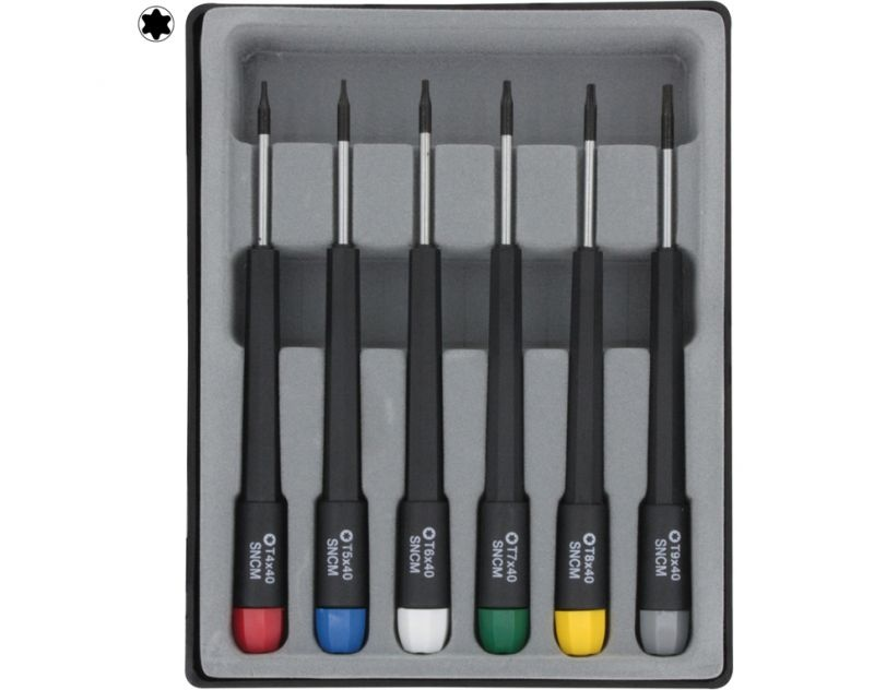 Torx screwdriver set 6 pcs.