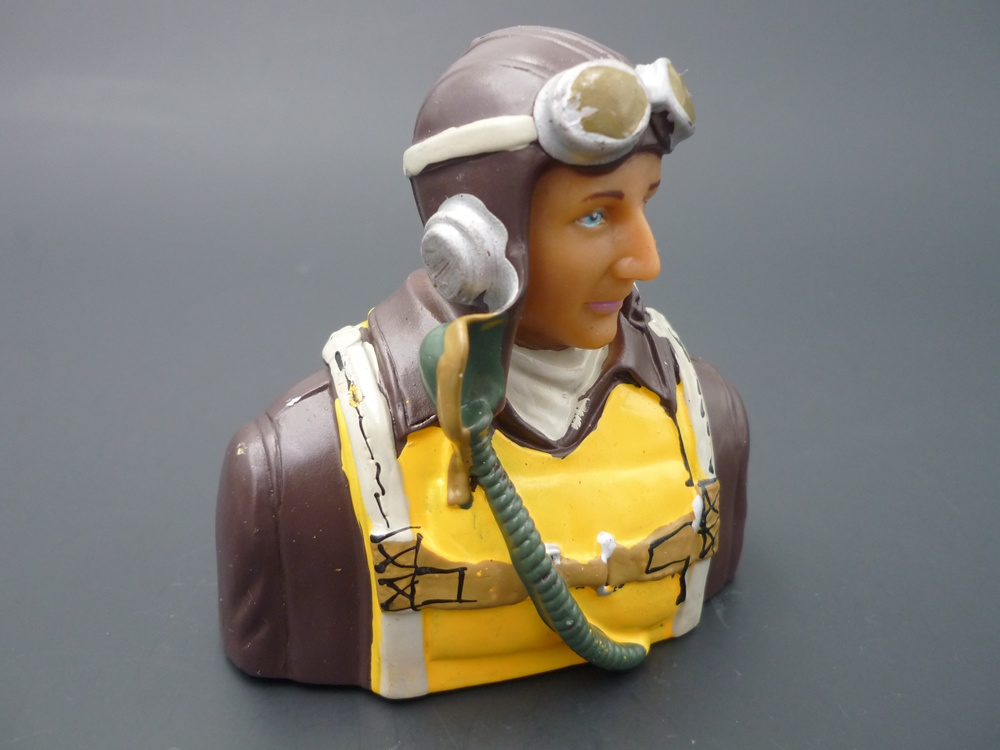bust pilot WWII 1/6 America, painted