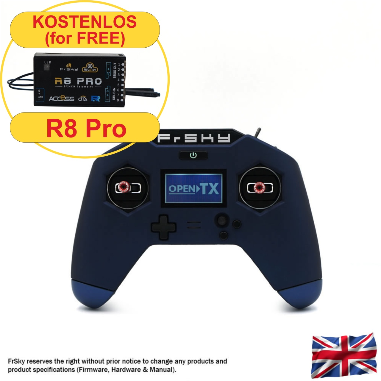 Taranis X-LITE Pro 2,4 GHz FrSky, blue