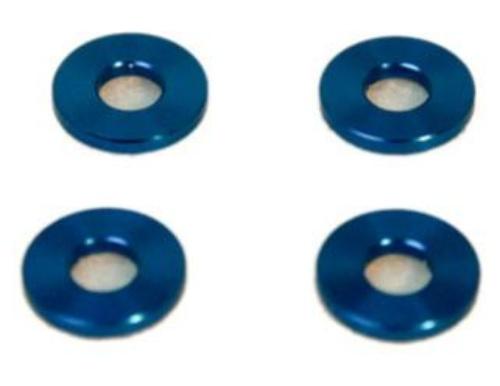 Alu-Abstandshalter 3mm blau für 6mm Schraube