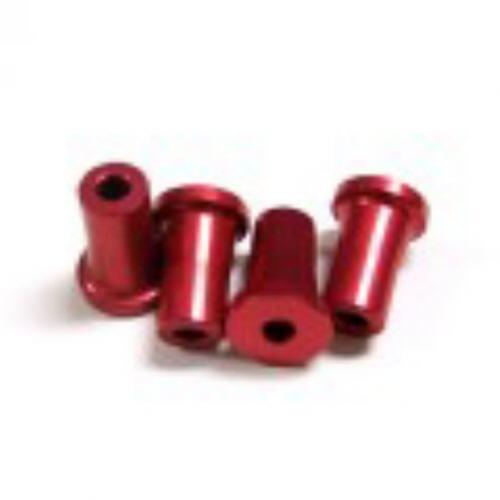 Alu-Abstandshalter 20mm rot für 5mm Schraube