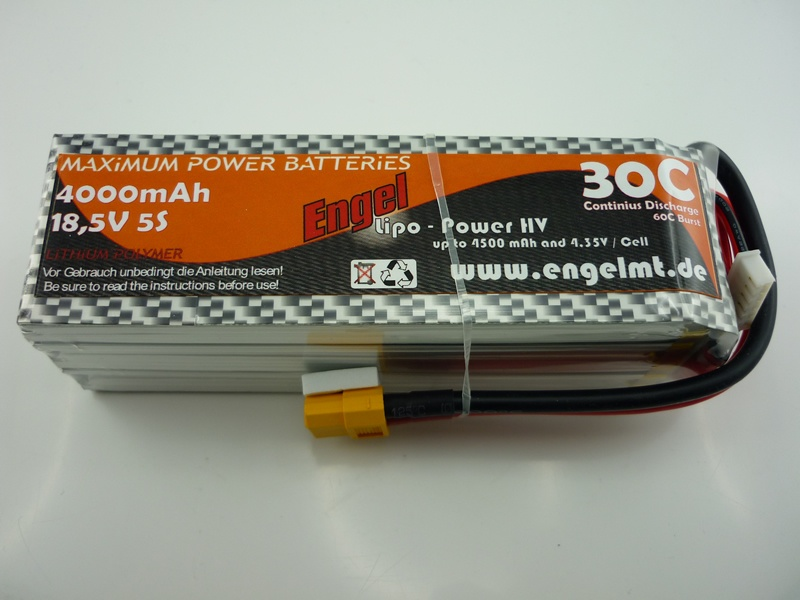 Engel-HV-Lipo-Power 4000mAh/5S 18,5V, 30/60C