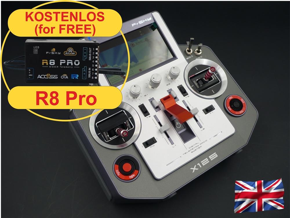 HORUS X12S EU/LBT silver FrSky transmitter with travelcase