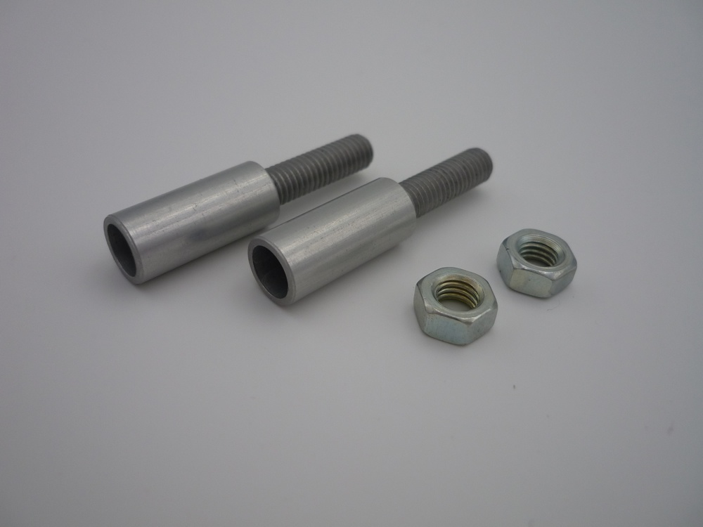 Alu-adhesive sleeve M5/6 mm with hex nut