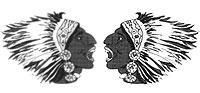 Escadrille Lafayette (Seminole Indianer)Staffelabzeichen 1:4