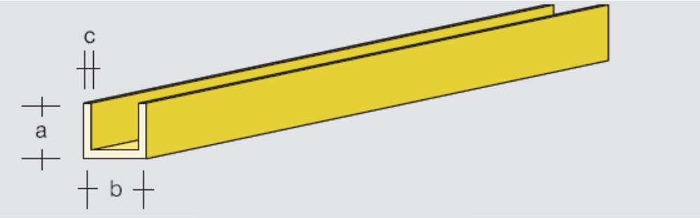 Brass U-Profile 5x5