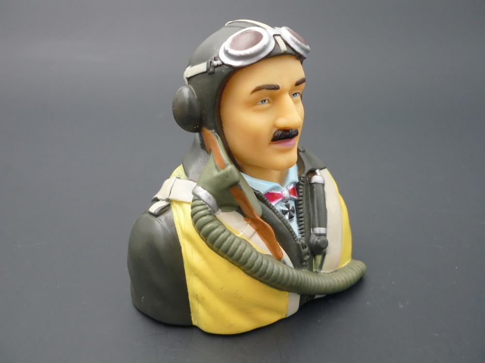 Pilotenbüste WWII 1/6 deutsch, bemalt