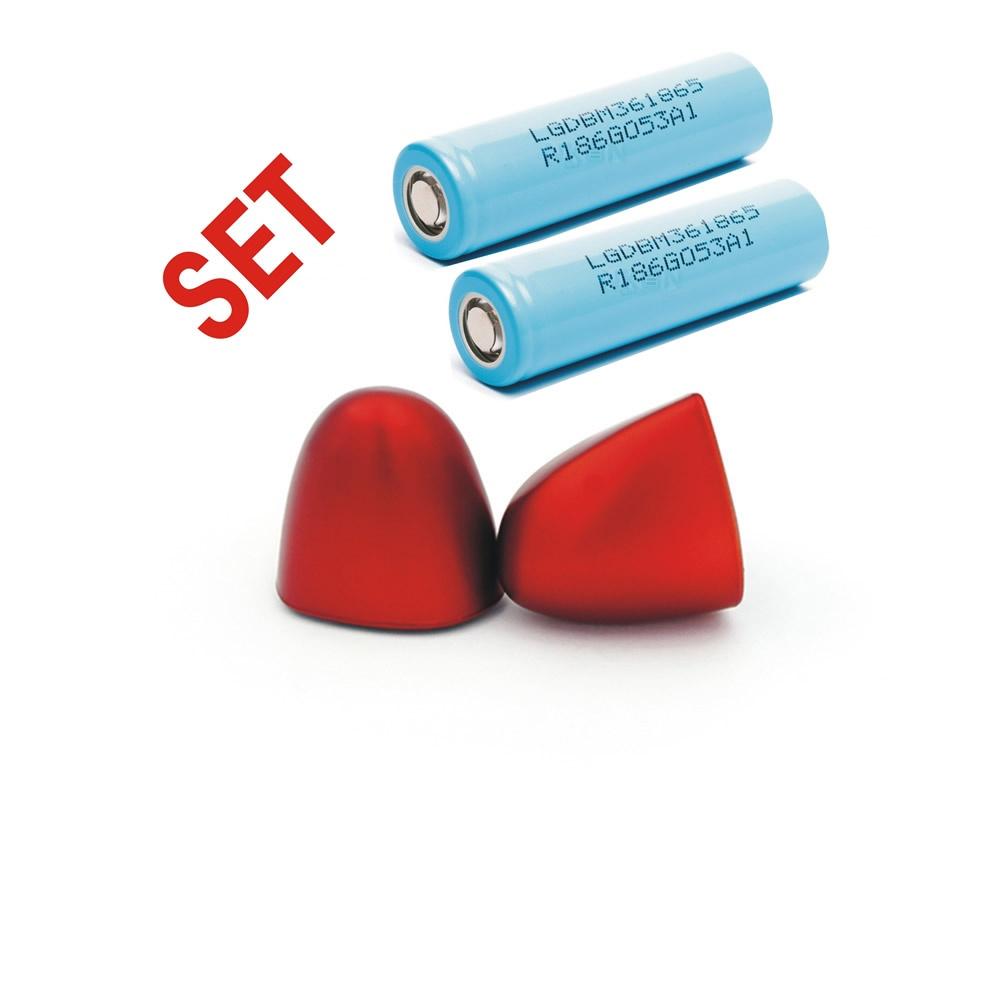 Taranis X-LITE/-S-/Pro  Battery Cap for 18650, red