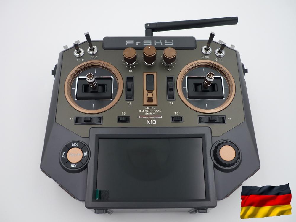 Horus X10 EU/LBT Amber FrSky Sender, dt. Menüführung