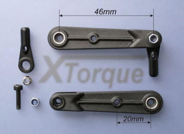 XT Torque CFK Gabelservohebel 46 mm