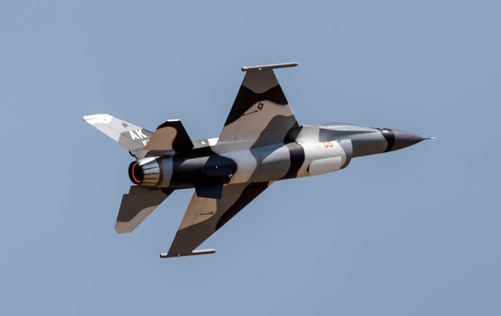 TopRC F16 1:6  Camo Grey 65 ARF