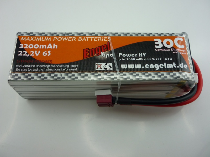 Engel-HV-Lipo-Power 3200mAh/6S 22,2V, 30/60C