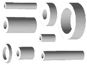 spacing sleeves PA 6,3-15-30