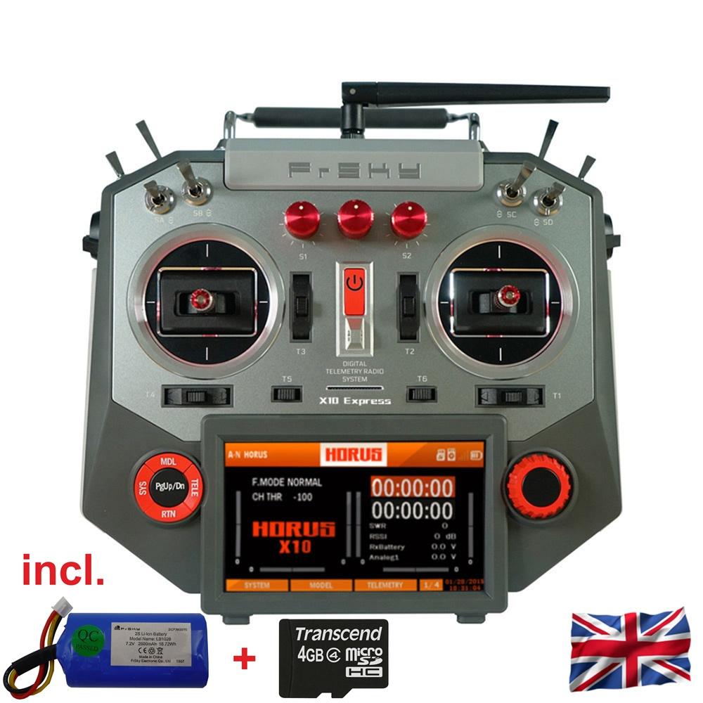 HORUS X10 Express EU/LBT FrSky Senderset Silver 2,4Ghz