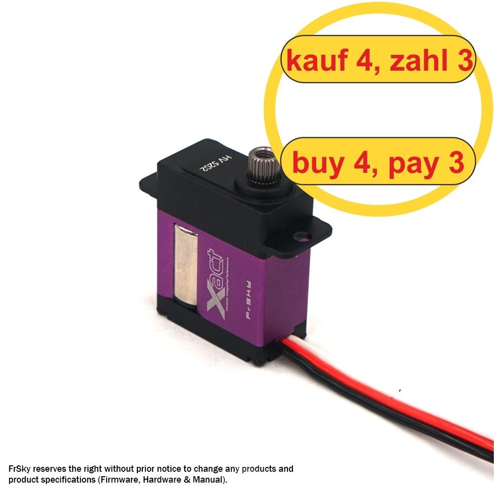 FrSky Xact Micro Servo HV 5202 (4 pcs) (4 for 3)