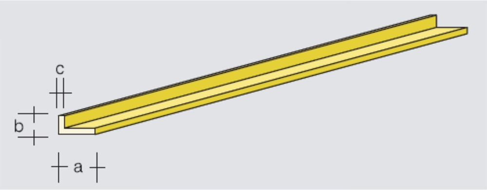 Brass L-Profile 3,0x1,0