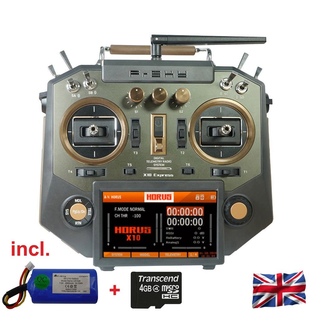 HORUS X10 Express EU/LBT FrSky Senderset Amber 2,4Ghz