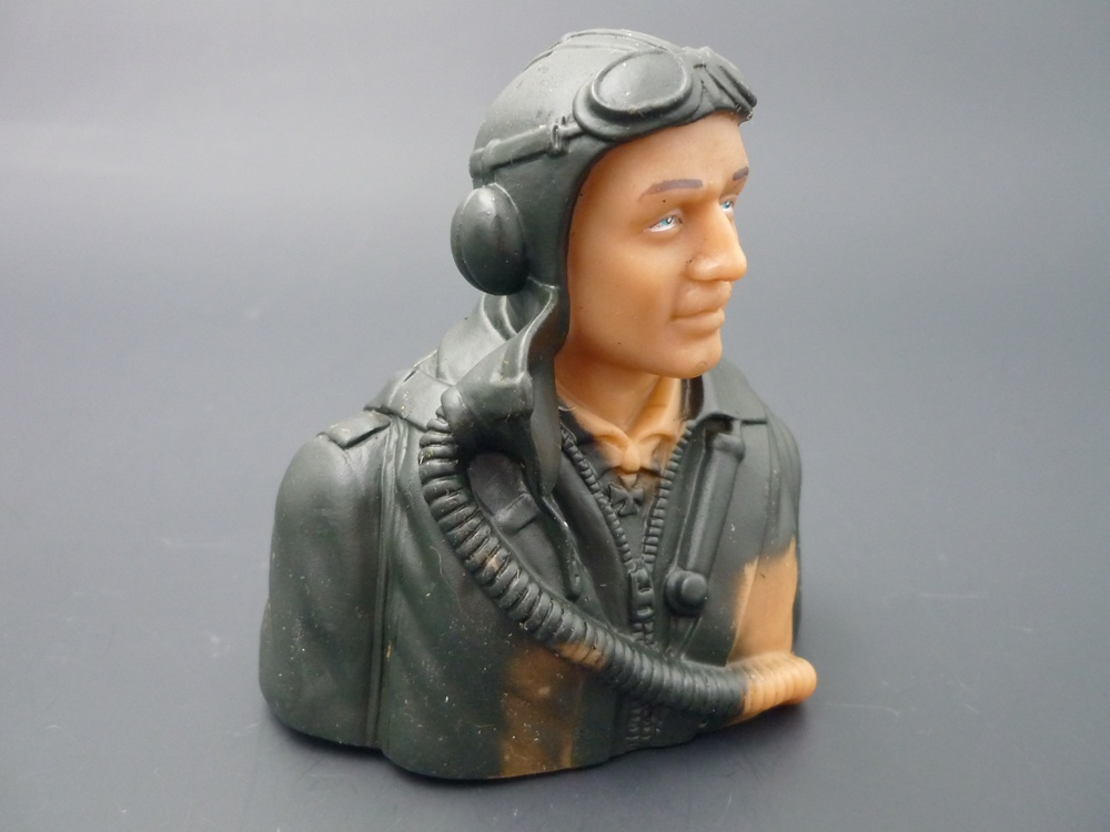 Pilotenbüste WWII 1/6 deutsch, grundiert