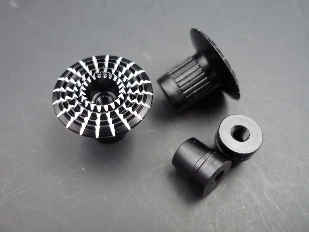 Gimbal Stick Ends 3D Umbrella Style M3, black